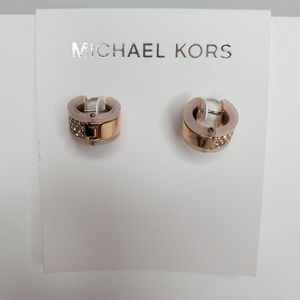 NEW Michael Kors Jeweled Blush Rose Gold Earrings